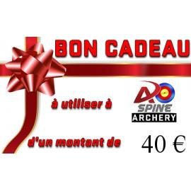 Carte cadeau - 40€