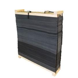 Cible bandes de mousse avec cadre bois Avalon 130 x 130 x 30cm