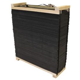 Cible bandes de mousse avec cadre bois Avalon 90 x 90 x 30cm